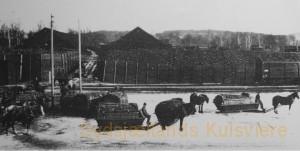 Kulslæder ved Hofors jernbanestation omkr. 1900