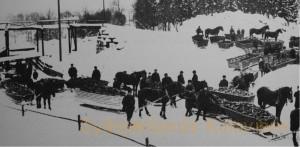 Slædetransport af trækul ved Långshyttan