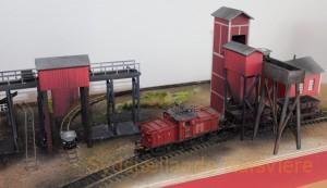Model af Fredmundberg elevatortårn for tipvogne.